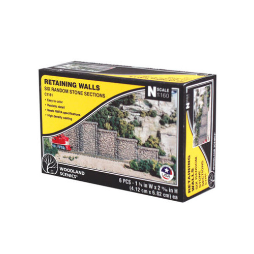 Woodland Scenics Random Stone Retaining Wall N Scale packaging
