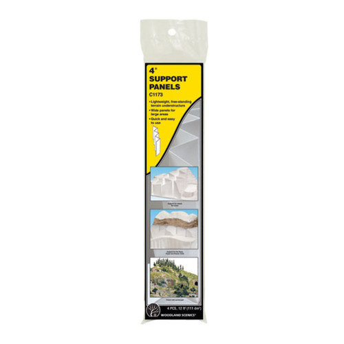 "Woodland Scenics 4"" Support Panels packaging"