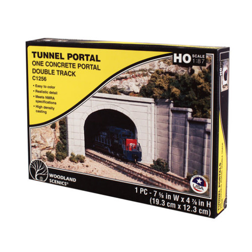 Woodland Scenics Concrete Double Portal HO Scale packaging