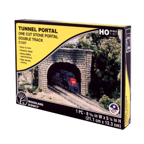 Woodland Scenics Cut Stone Double Portal HO Scale packaging