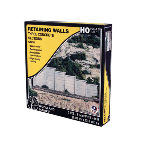 Woodland Scenics Concrete Retaining Wall HO Scale packaging