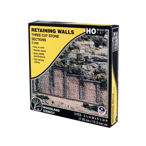 Woodland Scenics Cut Stone Retaining Wall HO Scale packaging