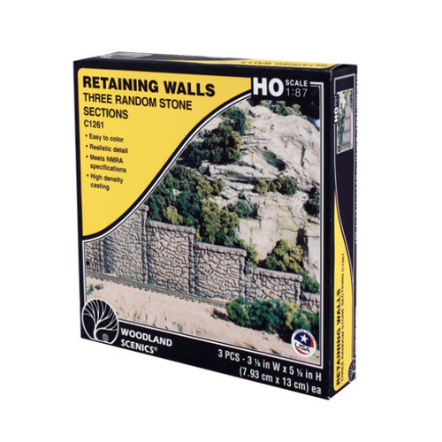 Woodland Scenics Random Stone Retaining Wall HO Scale packaging