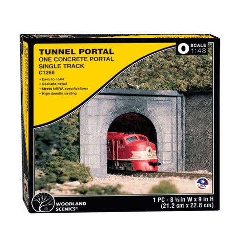 Woodland Scenics Concrete Single Portal O Scale packaging