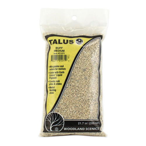 Woodland Scenics Medium Buff Talus packaging