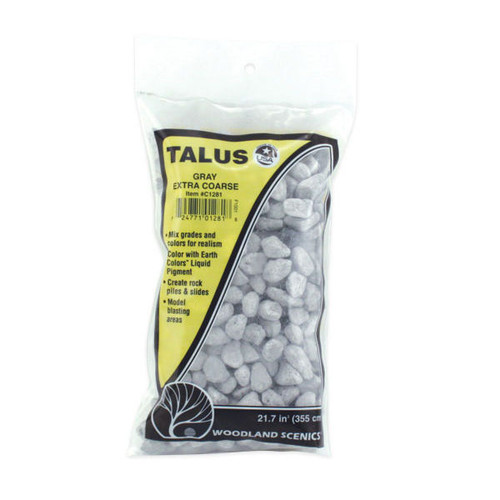 Woodland Scenics Extra Coarse Grey Talus packaging