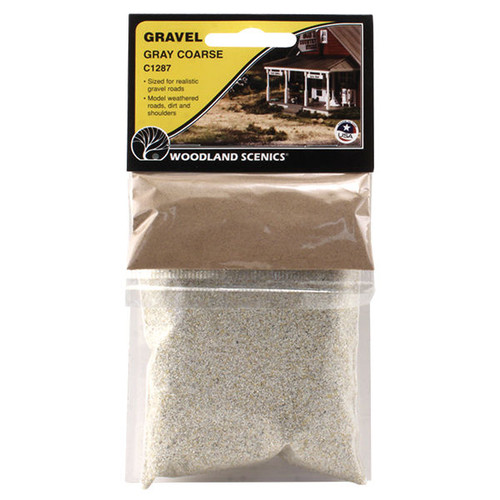 Woodland Scenics Coarse Grey Gravel packaging