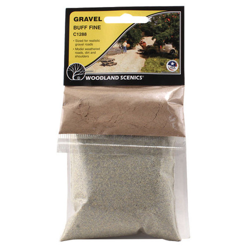 Woodland Scenics Fine Buff Gravel packaging