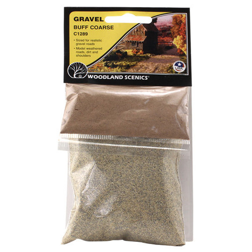 Woodland Scenics Coarse Buff Gravel packaging