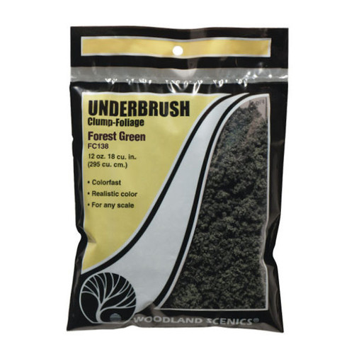 Woodland Scenics Forest Green Underbrush packaging