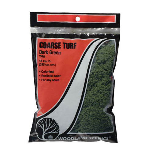 Woodland Scenics Coarse Turf Dark Green Bag