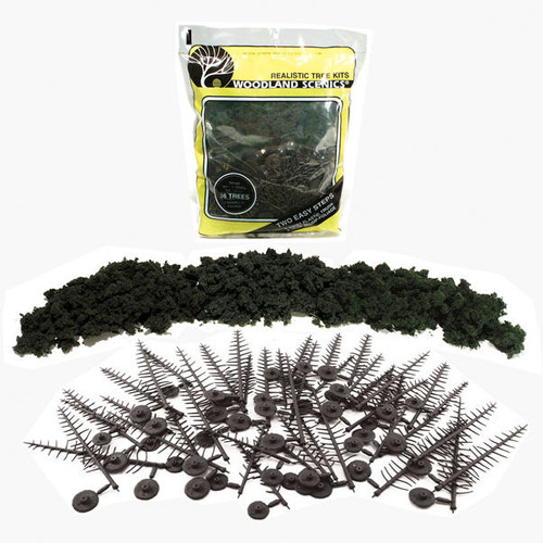 Woodland Scenics Realistic Tree Kit Forest Green