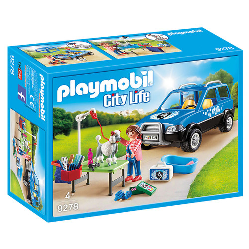 Playmobil Mobile Pet Groomer packaging