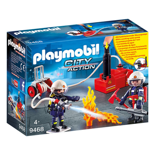 Playmobil Firefighters with Water Pump packaging