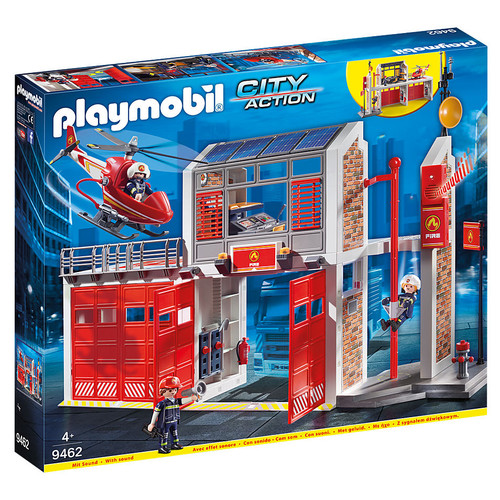 Playmobil Fire Station packaging