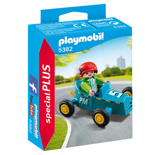 Playmobil Boy with Go Kart packaging