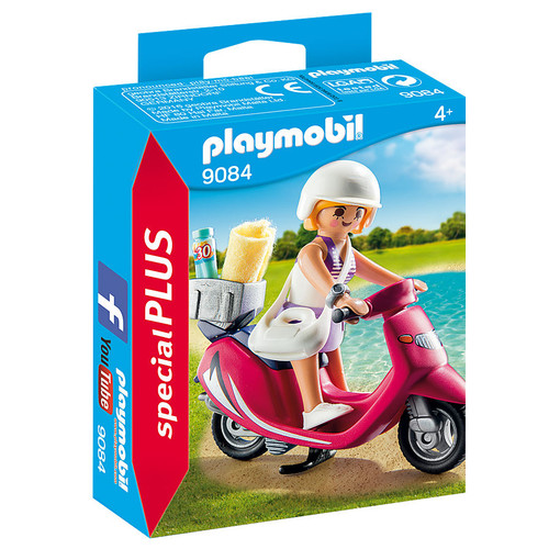 Playmobil Beachgoer with Scooter packaging