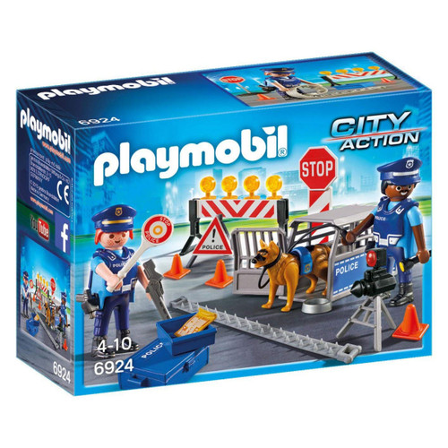 Playmobil Police Roadblock packaging
