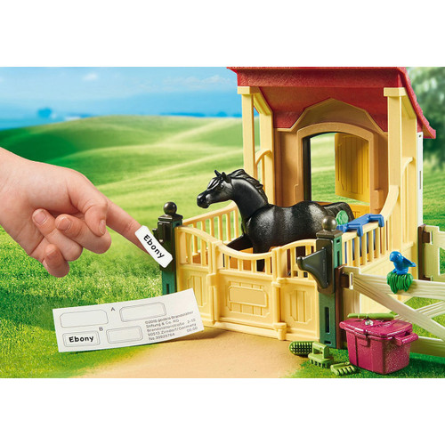 Playmobil Horse Stable with Arabian Horse lifestyle name sticker
