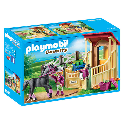 Playmobil Horse Stable with Arabian Horse packaging