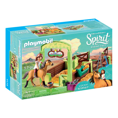 Playmobil Lucky & Spirit with Horse Stall packaging