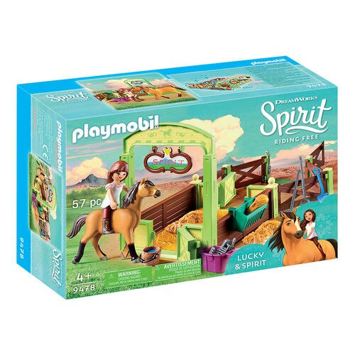 Playmobil Lucky & Spirit with Horse Stall