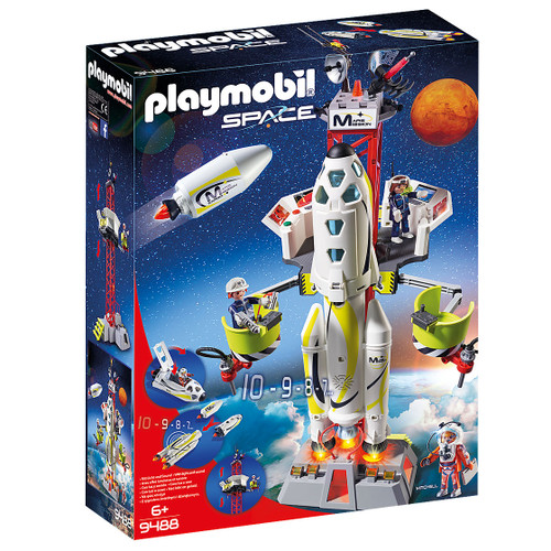 Playmobil Mars Rocket with Launch Site packaging