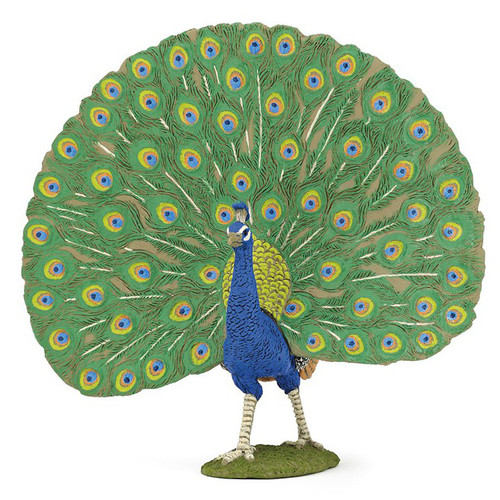 Papo Peacock figurine