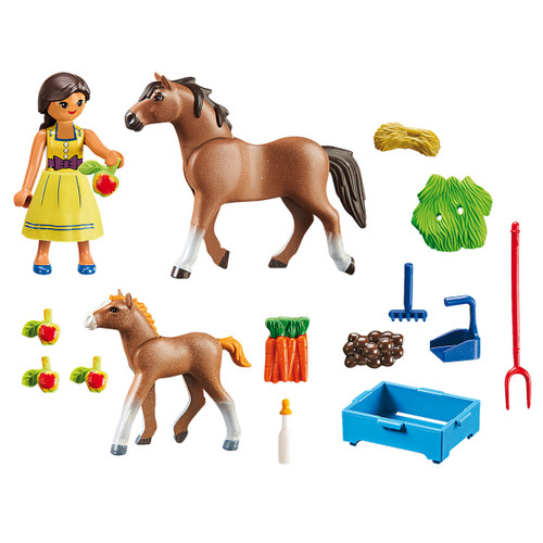 Playmobil Pru with Horse and Foal inclusions