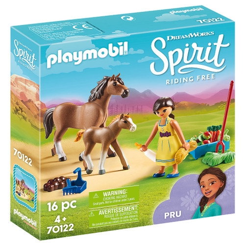 Playmobil Pru with Horse and Foal packaging