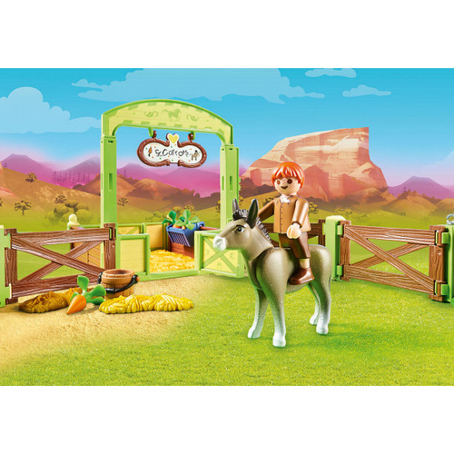 Playmobil Snips & Se'±or Carrots with Horse Box lifestyle 2