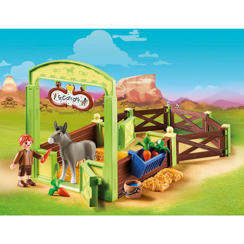 Playmobil Snips & Se'±or Carrots with Horse Box lifestyle