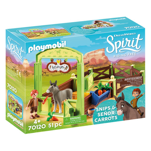 Playmobil Snips & Se'±or Carrots with Horse Box packaging