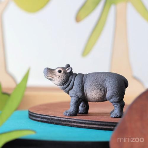 Schleich Hippopotamus Calf lifestyle