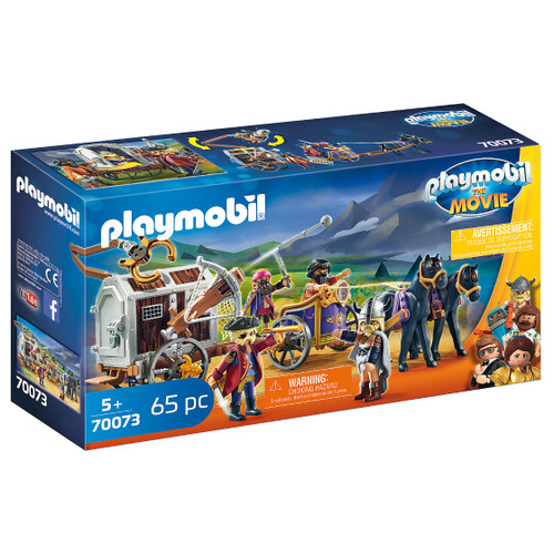 Playmobil: The Movie Charlie with Prison Wagon packaging
