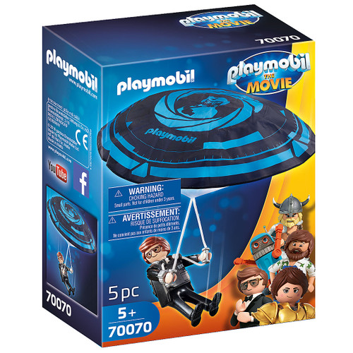Playmobil: The Movie Rex Dasher with Parachute packaging