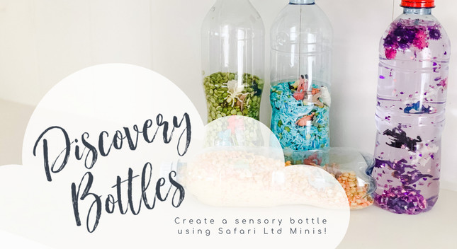 Discovery Bottles and Sensory Play with MiniZoo Minis | MiniZoo Blog
