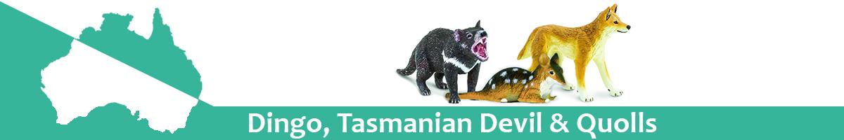 Dingo, Tasmanian Devil & Quolls banner
