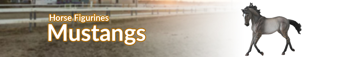Horse Figurines Mustang banner - Click here to go back to horse figurines