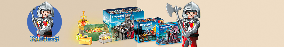 Playmobil Knights banner - Click here to go back to Playmobil