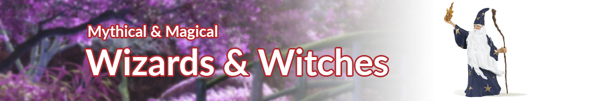 Mythical and Magical Creatures wizards and witches banner - Click here to go back to Mythical and Magical creatures
