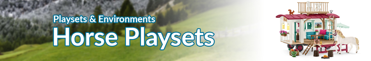 Playsets and Environments Farm Horse Playsets banner - Click here to go back to Playsets and Environments