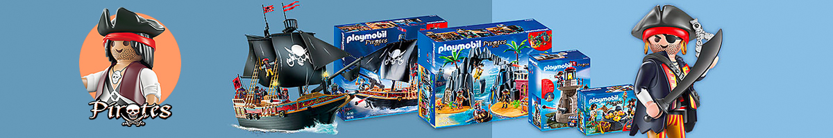 Playmobil Pirates banner - Click here to go back to Playmobil