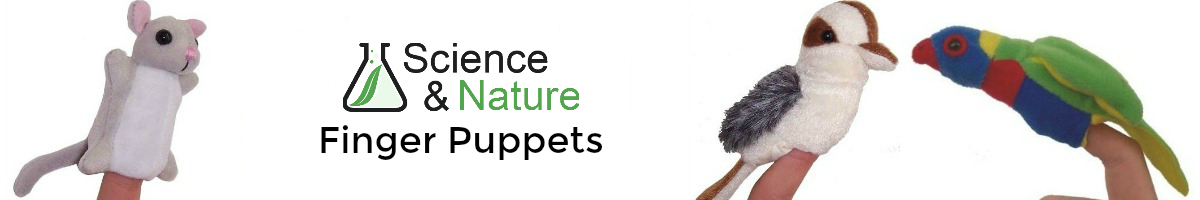 Science & Nature finger puppets. Click here to go back to Science & Nature