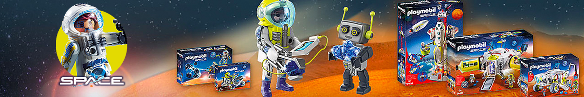 Playmobil Space banner - Click here to go back to Playmobil