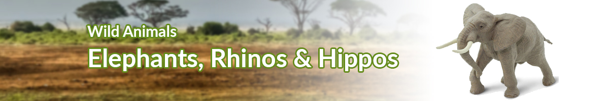 Wild Animals Elephants, Rhinos & Hippos banner - Click here to go back to Wild Animals