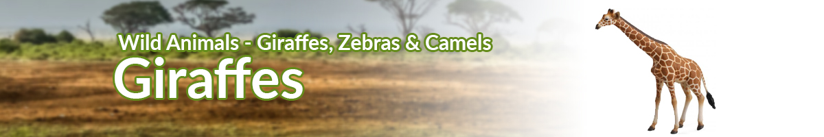 Wild Animals Giraffes banner - Click here to go back to Wild Animals