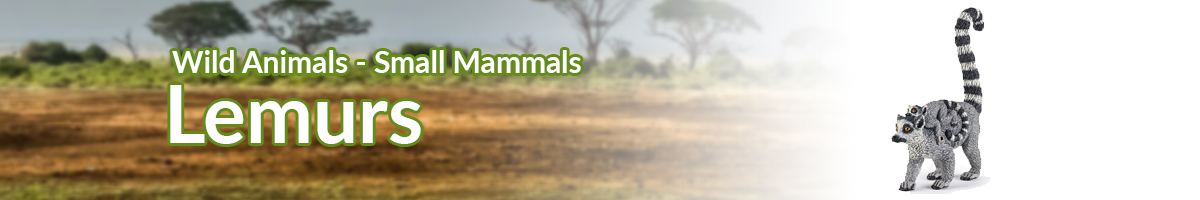 Wild Animals Lemurs banner - Click here to go back to Wild Animals