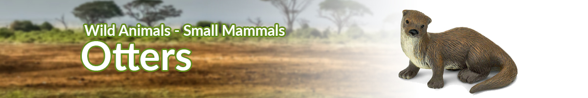 Wild Animals Otters banner - Click here to go back to Wild Animals