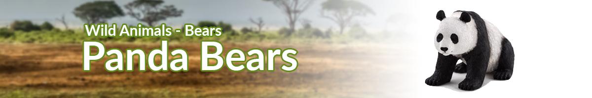 Wild Animals Panda Bears banner - Click here to go back to Wild Animals